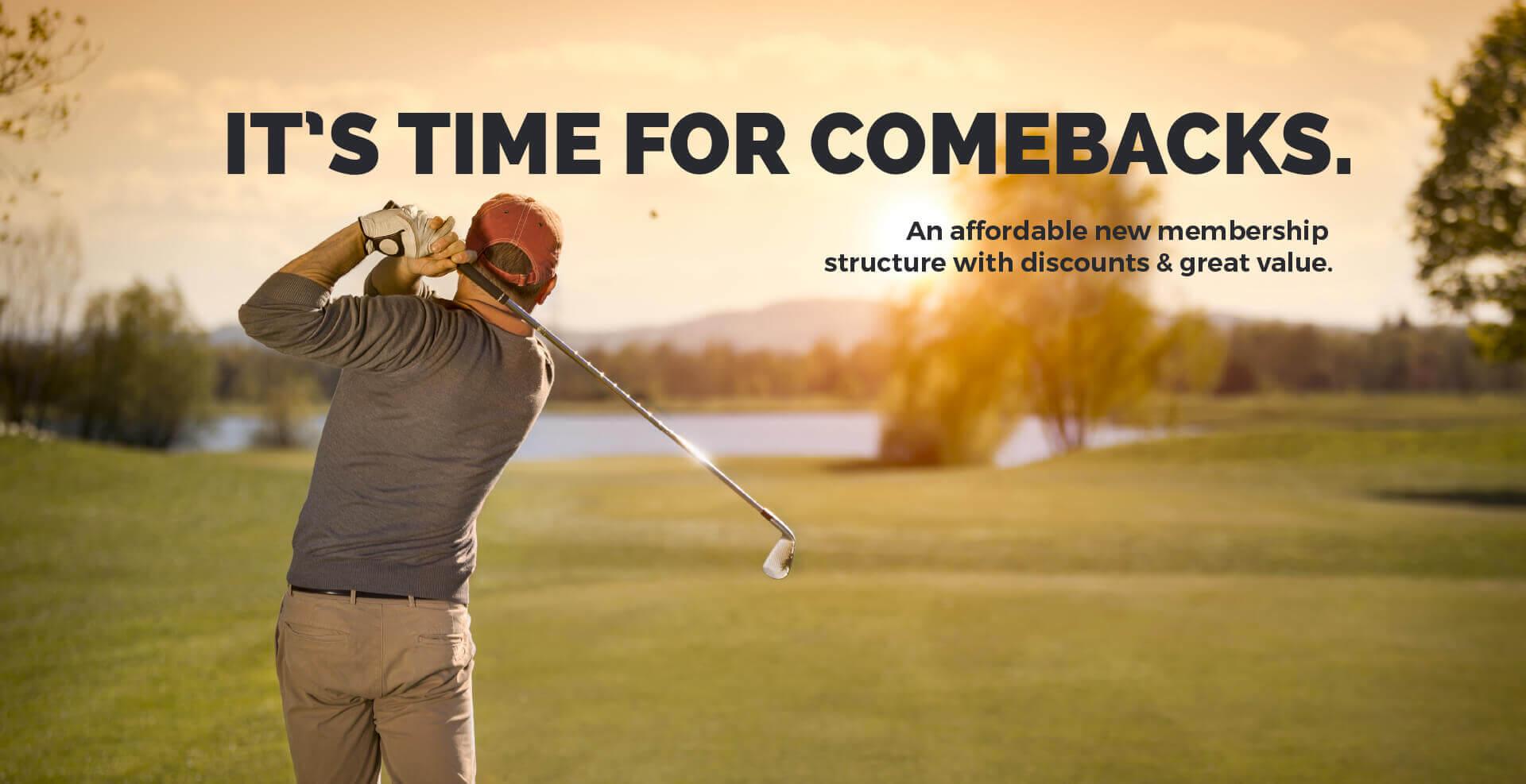 Golfer Membership Banner