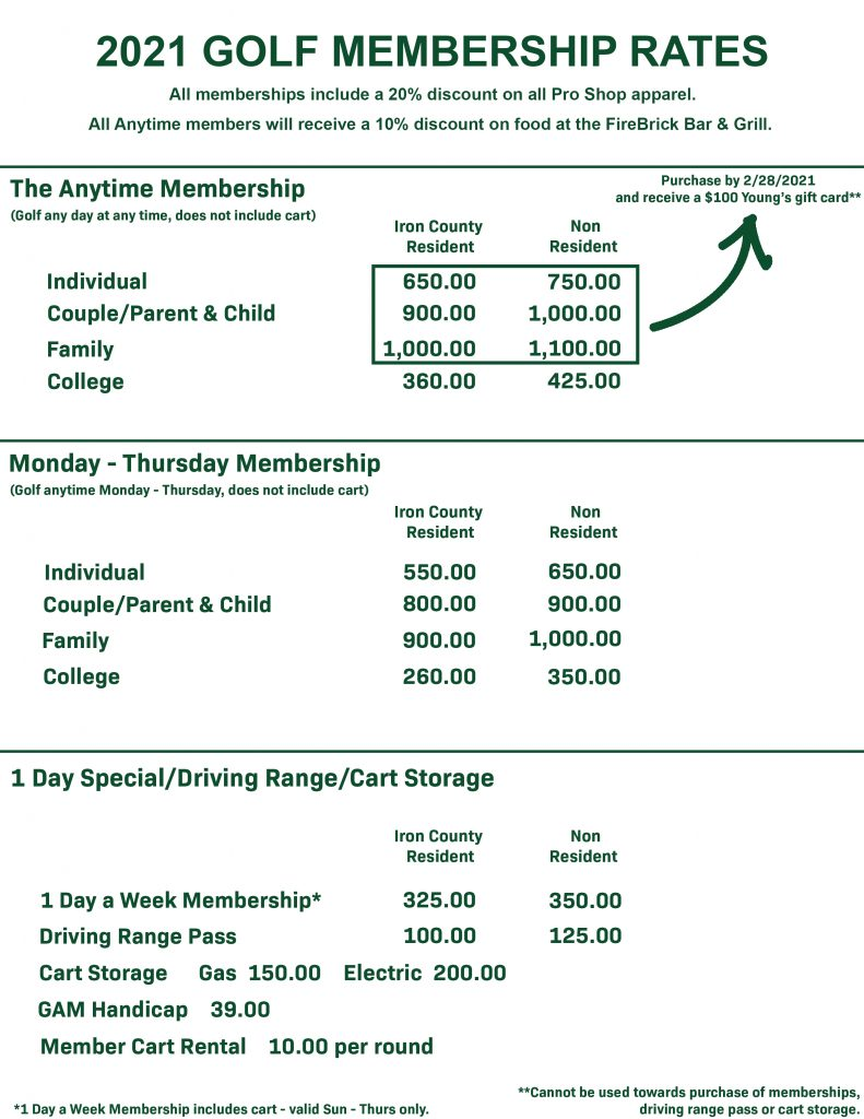 Membership Price 2021